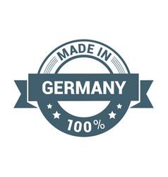 germany stamp design vector image
