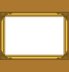 gold wood frame vector image