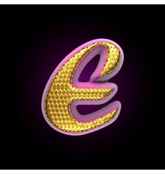 golden and pink letter e vector image