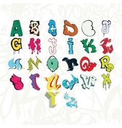 Graffiti font and tag vector