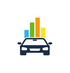 Graph automotive logo icon design vector