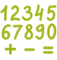 green textured numbers from zero to nine vector image