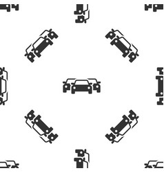 grey cars icon isolated seamless pattern on white vector image