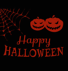 Happy halloween evil pumpkins vector