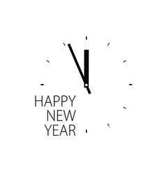 happy new year clock vector image