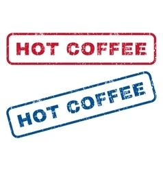 Hot Coffee Rubber Stamps vector