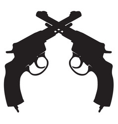 icon with revolvers vector image