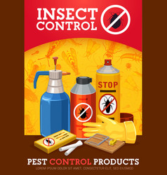 Insecticide and pesticide spray cockroach chalk vector