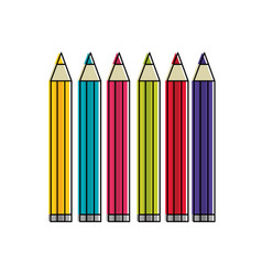 isolated pencils design vector image