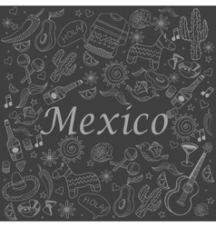 Mexico chalk vector image vector image