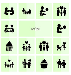 mom icons vector image
