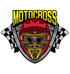 motocross racing skull helmet vector image