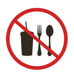 no eating sign vector image