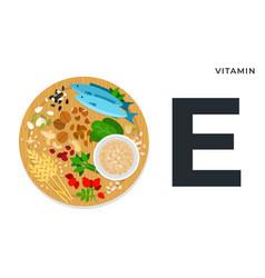 Nutritional components vitamin e vector