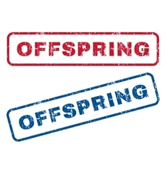 Offspring Rubber Stamps vector