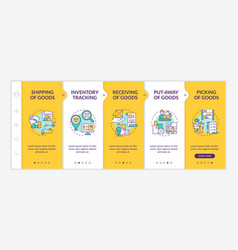 Order delivery onboarding template vector