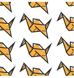 origami oriental art seamless pattern paper vector image