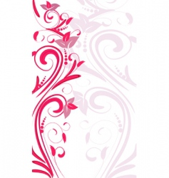 ornament vertical vector image