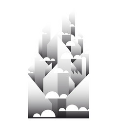 Panorama of the city a metropolis background vector