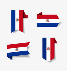 paraguayan flag stickers and labels vector image