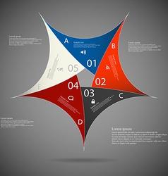 Pentagon star on dark background vector