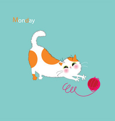 Playful kitty days vector