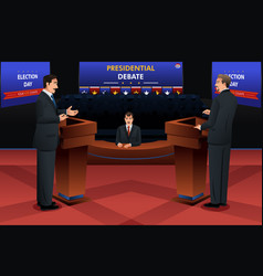 Presidential debate vector
