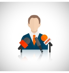 Public speaking icon vector image