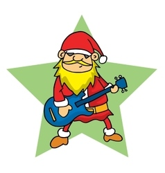 Santa with guitar vector image