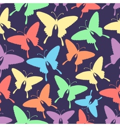 seamless pattern with stylized butterflies vector image
