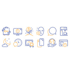 Set business icons such as face declined vector