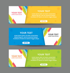 Set of web banner templates vector