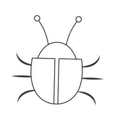 simple bug icon vector image