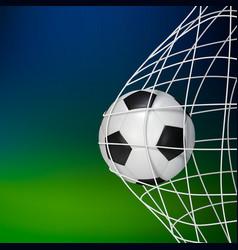 Soccer game match goal football ball in net vector