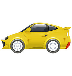 Sport car in yellow color vector