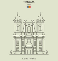 St georges cathedral in timisoara vector