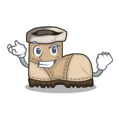 Successful working boot in shape cartoon beautiful vector