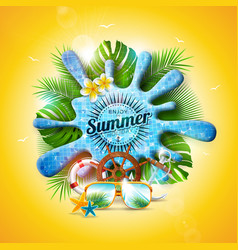 summer holiday with pool water vector image