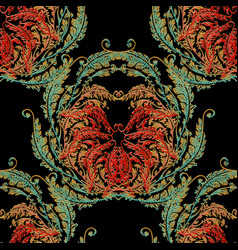 tapestry baroque seamless pattern vector image