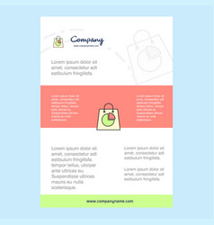 template layout for shopping bag comany profile vector image