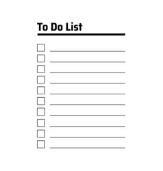 to do list planning task concept a paper sheets vector image