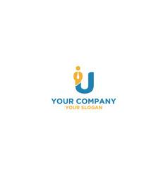 U worker logo design vector