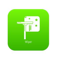 Wiper icon green vector
