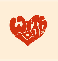 with love red heart letters vector image
