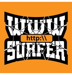 Www internet surfer typography graphics vector