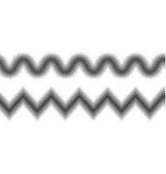 zigzag halftone effect vector image