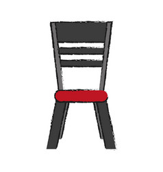 House dining table chair icon image vector