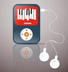 MP3 Player Abstact Music Player with Headphones vector image