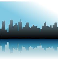 urban skyline vector image