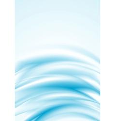 Blue smooth wavy backdrop vector image vector image